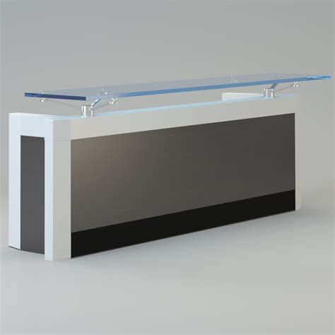 contemporary reception desks contemporary reception desk 3d model max cgtrader