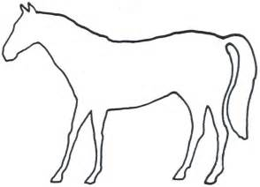animal outlines horses page 3