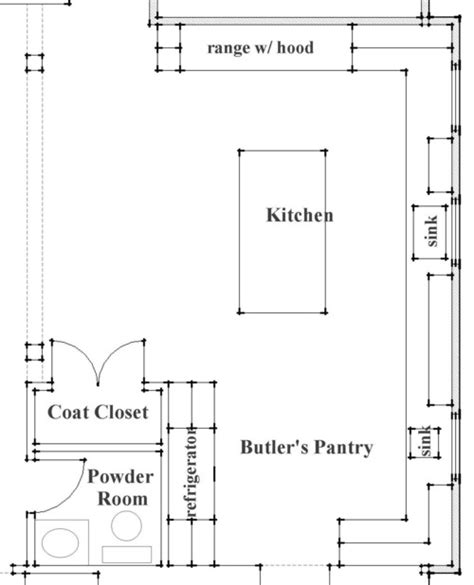 great kitchen plan what are the dimensions of the entire room butler s pantry
