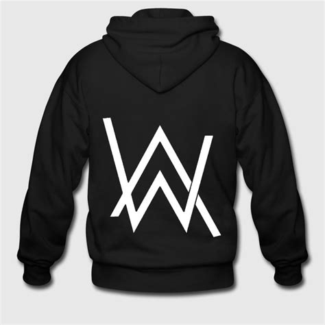 alan walker merchandise alan walker logo zip hoodie spreadshirt