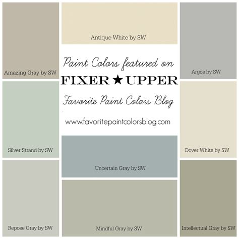 sherwin williams color schemes fixer upper paint colors favorite paint colors blog