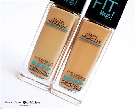 Maybelline Fit Me Foundation Warm maybelline fit me matte poreless foundation 128 warm 230 buff review swatches