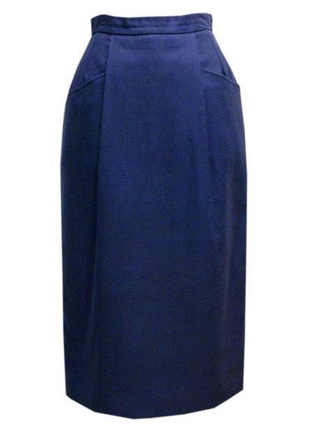 vintage style navy blue skirt custom handmade