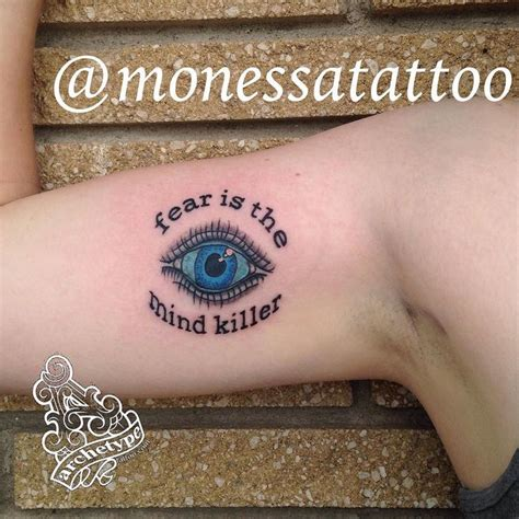 fear is the mind killer tattoo fear is the mind killer tattoos tattooist