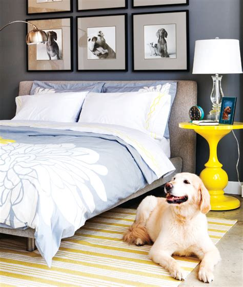 Grey Yellow Blue Bedroom by Blue Yellow Gray Bedroom Contemporary Bedroom Style