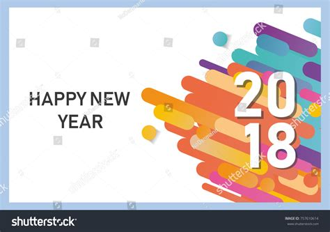 greenpeace 2018 international new years cards templates happy new year 2018 vector background stock vector