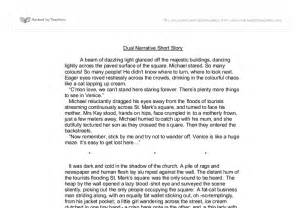 Stories To Write An Essay On by Dual Narrative Story Gcse Marked By Teachers