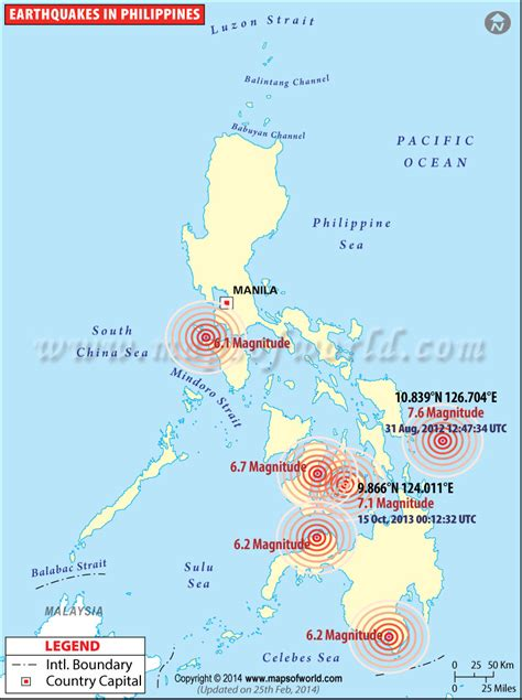 earthquake history map earthquakes in philippines