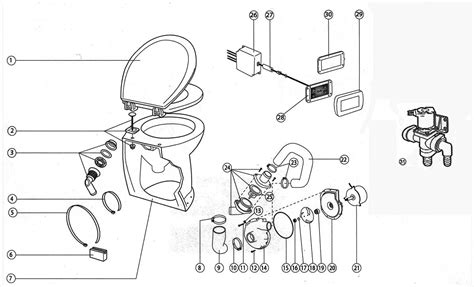 Jabsco Toilet Parts List by Jabsco 58020 1012 Deluxe Flush Electric Toilet Fresh