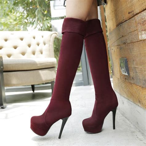shoespie cheap stiletto heel knee high boots shoespie