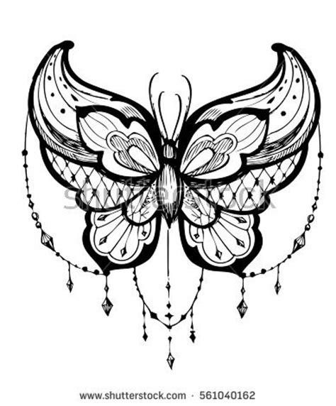 butterfly tattoo stock images royalty free images