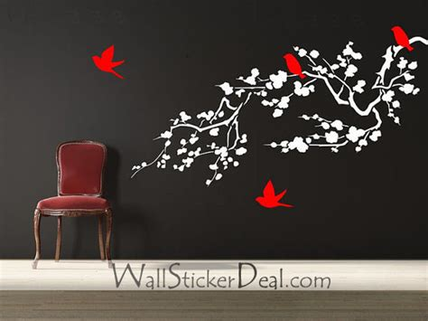 branches wall stickers wall decal beautiful flower decals for walls small floral