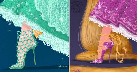 las princesas usan botas 849407458x basados en famosos dise 241 adores de moda reinventaron los zapatos de las princesas de disney upsocl