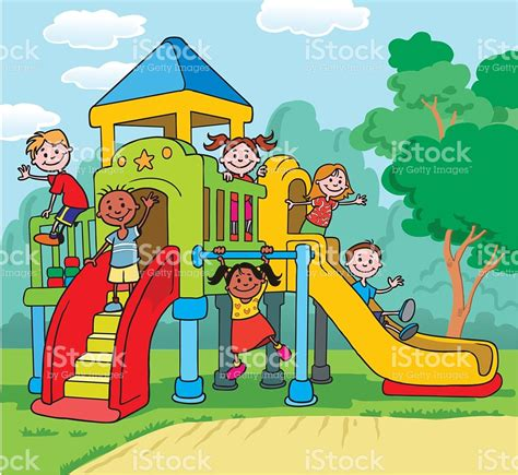 playground clip playground clipart children park pencil and in color