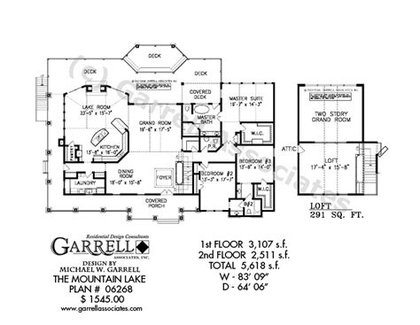 lake floor plans mountain lake house plan house plans by garrell