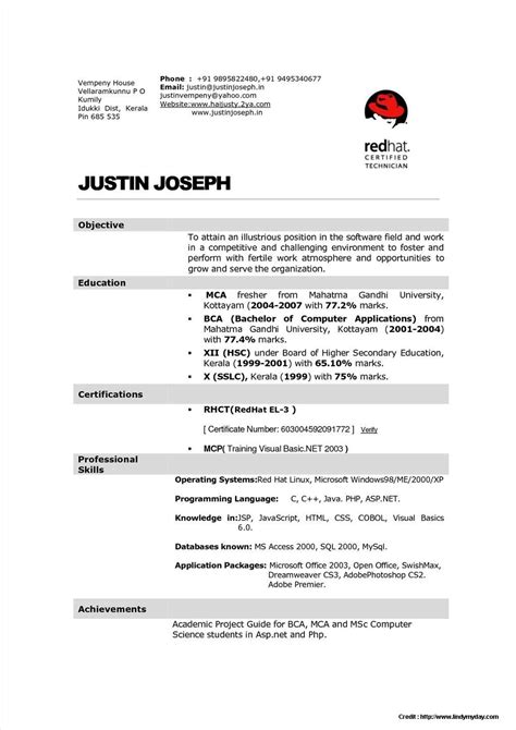 resume format for staff freshers sle resume for hotel management fresher resume