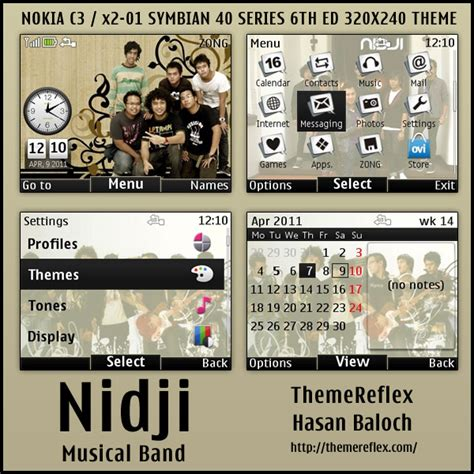 music theme nokia x2 01 nidji musical band theme for nokia c3 x2 01 themereflex