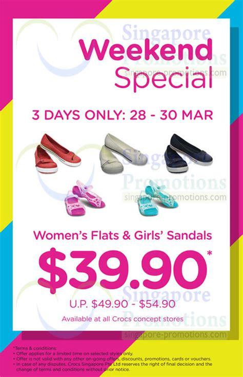 Crocs Gift Card Discount - crocs women s flats girls sandals weekend promo 28 30 mar 2014