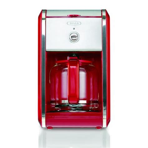 BELLA 13700 Dots Collection 12 Cup Coffee Maker, Red New   eBay