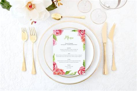 Bridal Shower Menu Card Template by 1000 Ideas About Wedding Menu Template On
