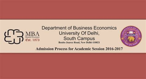 Business School Of Economics Mba by Applications For Mba Business Economics At Dept Of Be To
