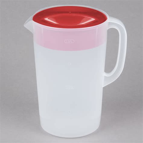 1 Gallon With Lid by Rubbermaid 1978082 1 Gallon Plastic Pitcher With Lid