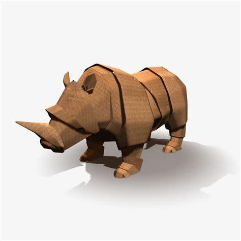 Rhinoceros Origami - 3d origami rhinoceros model