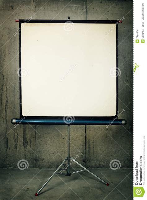 projector screen stock photo image  tripod
