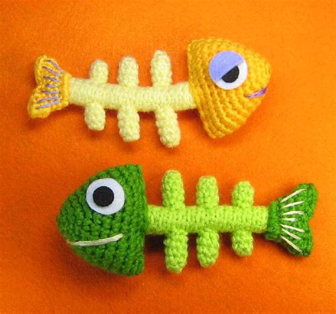 fishbone knitting pattern fish bone skeleton crochet pattern knithacker