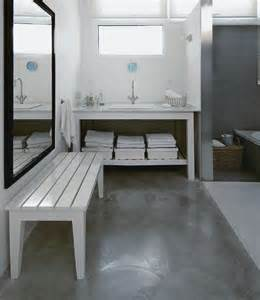 using concrete bathroom floor and change the look of your