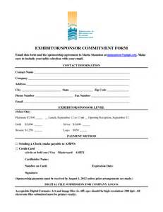 Commitment Form Template by Best Photos Of Event Sponsorship Form Template Corporate