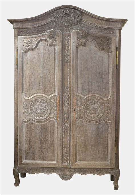 antique oak armoire french limed oak marriage armoire 322078