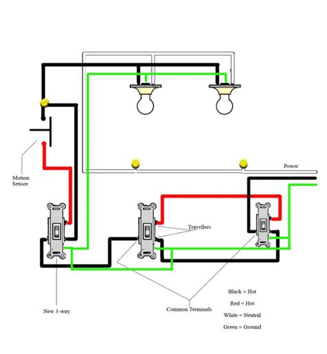 5 best images of motion sensor light switch wiring diagram