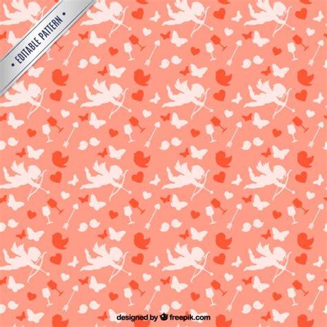 valentine pattern vector valentines day cupid pattern vector premium download