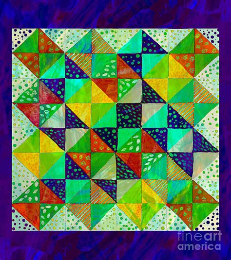 pattern for an artist s smock broken dishes quilt pattern painting 3 painting by