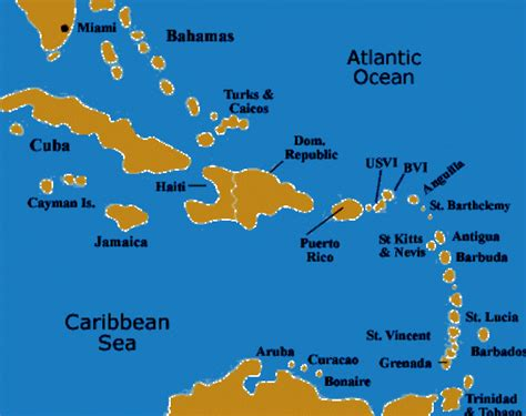 map of caribbean with country names island caribbean islands map