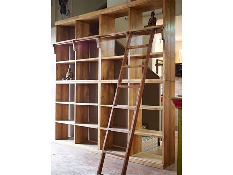 librerie in offerta libreria nature in legno massello india con scala in