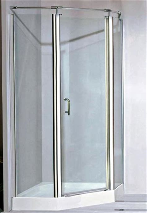 Brushed Nickel Shower Door Brushed Nickel Framed Neo Angle Shower Door