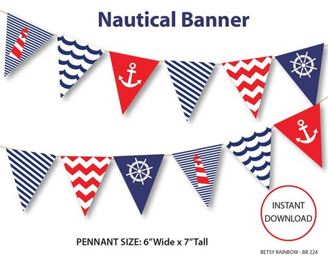 free printable bunting flags and tutorial nautical banner printable banner nautical diy party
