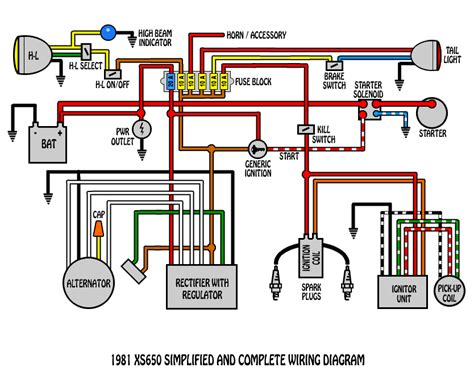 yamaha xs 650b wiring diagram wiring diagram with