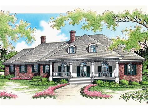 house plans with front porch one story whispering manor one story home plan 020s 0015 house
