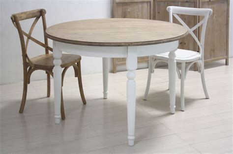 tavolo bianco rotondo tavolo tondo bianco shabby chic etnico outlet mobili etnici