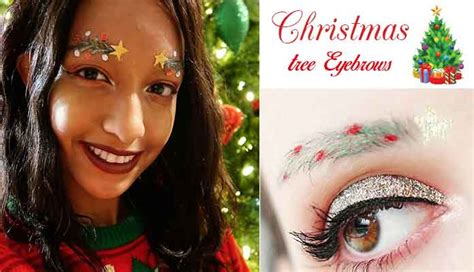 images of christmas eyebrows these christmas tree eyebrows are new holiday sensation