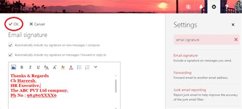 How To Add Signature Office 365 Outlook Email 2017 Thanksgiving Email Template For Outlook