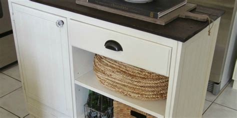 remodelaholic upcycled vintage desk  kitchen island