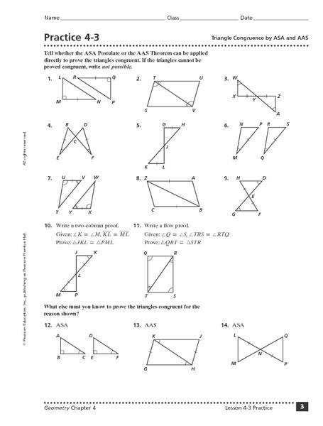 Prove Triangles Congruent Worksheet