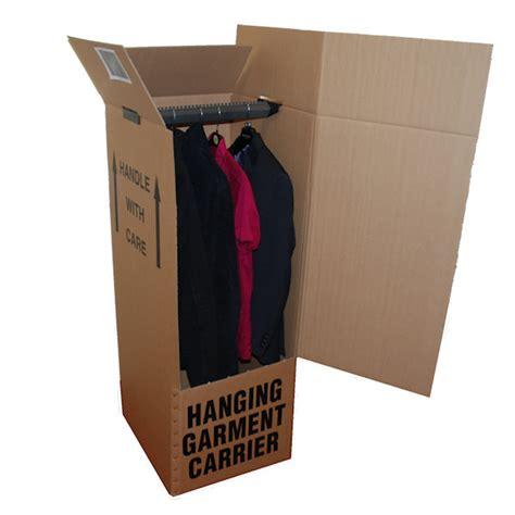 hanging wardrobe boxes wardrobe box with hanging rail bearded bros boxes