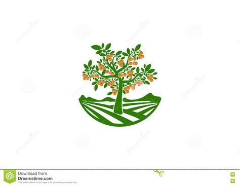 Garden Logos Pictures Vitamin Illustrations Vector Stock Images