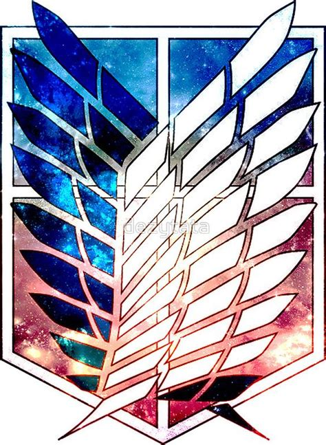 Kaos Scouting Legion Attack On Titan Wings Anime scout legion attack on titan galaxy shingeki no kyojin