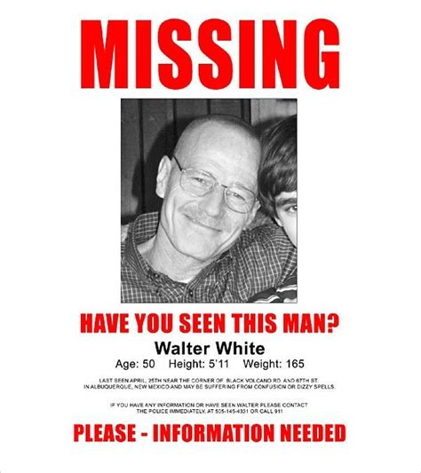 missing person poster template templates and doc missing